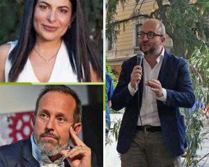 Chiara Colosimo e Giancarlo Righini, a destra Mauro Rotelli