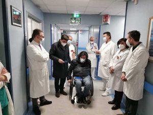 Roma - Alessio d'Amato all'Unità spinale dell'ospedale Cto di Roma