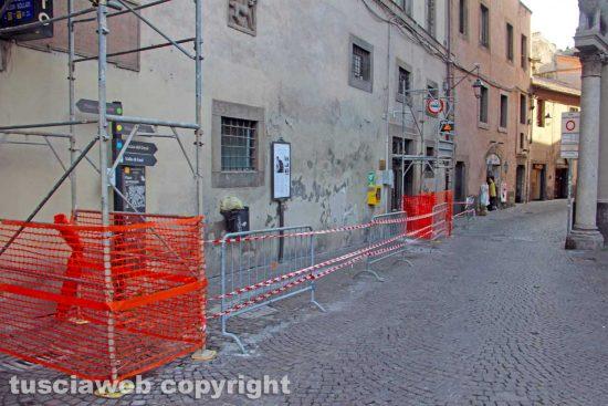 Viterbo - Lavori in via San Lorenzo