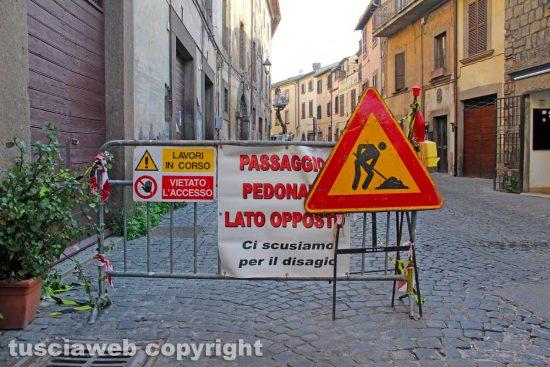 Viterbo - Lavori in via San Pietro