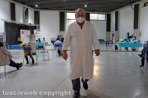 Viterbo - Il centro di vaccinazione AstraZeneca