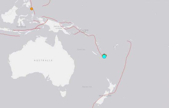 Il terremoto in Nuova Caledonia