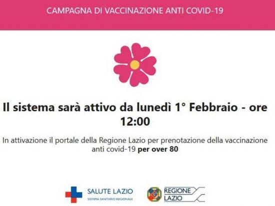 Vaccino anti Covid - Schermata del sito per la prenotazione degli over 80