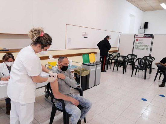 Centro vaccinazioni Covid a Tarquinia