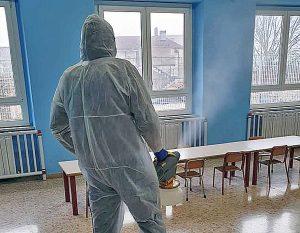 Coronavirus - La sanificazione di una scuola