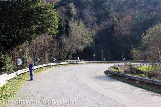 Viterbo - La curva della Cassia sud all'ingresso della città