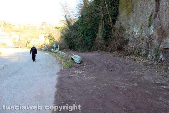 Viterbo - L'inizio del tratto di strada a piedi lungo la Cassia sud