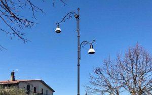 I lavori per la nuova illuminazione a Vitorchiano