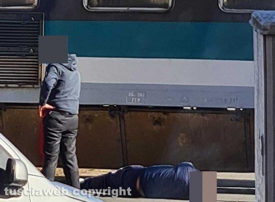 Vignanello - Uomo colpito di striscio dal treno