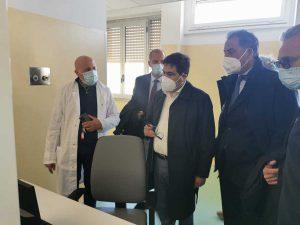 Anzio - L'assessore Alessio D'Amato inaugura il reparto di medicina d'urgenza Covid