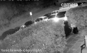Vitorchiano - Rubano un furgone, colpo immortalato dalle telecamere