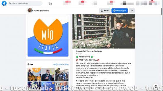 Viterbo - Il post del presidente di Mio, Paolo Bianchini