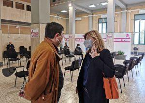 Frosinone - Alessio D'Amato visita i centri vaccinali Asl