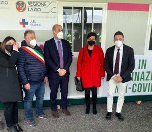 Valmontone - Il drive in per le vaccinazioni anti-Covid