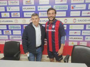 Sport - Calcio - Flaminia Civita Castellana - Il presidente Francesco Bravini e il centrocampista Francesco Manoni