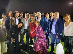 Enrico Maria Contardo insieme a Giorgia Meloni ed esponenti FdI