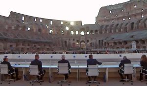 Roma - La cerimonia di inaugurazione al Colosseo del G20 sulla Cultura